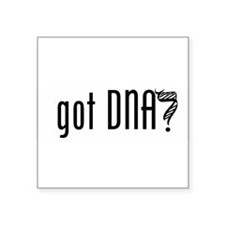 "Unique Dna helix Square Sticker 3"" x 3"""