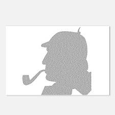 Sherlock Holmes Pipe Smoking Profile Picture Postc