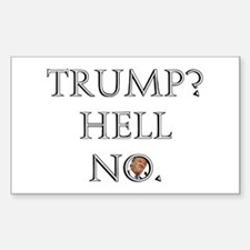Trump? Hell No. Decal
