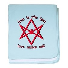 Love Is Law baby blanket