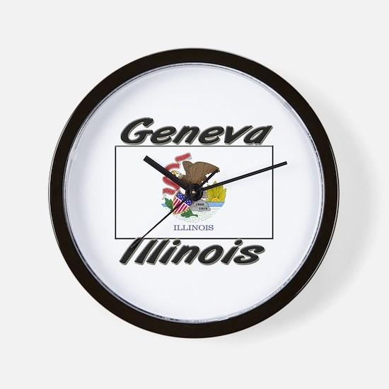 Geneva Illinois Wall Clock