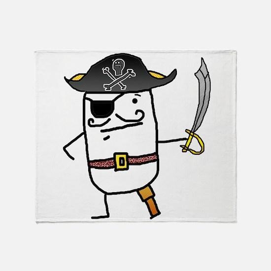 Big John Silver Throw Blanket