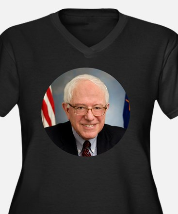 Cute Bernie sanders for president Women's Plus Size V-Neck Dark T-Shirt