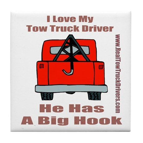 Tow Truck Driver Gift Tile Coaster