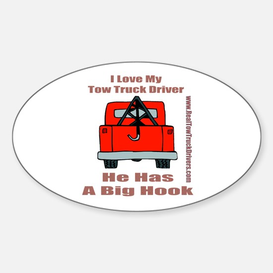 Tow Truck Driver Gift Oval Decal