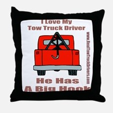 Tow Truck Driver Gift Throw Pillow