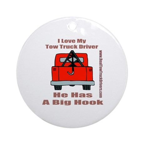 Tow Truck Driver Gift Ornament (Round)