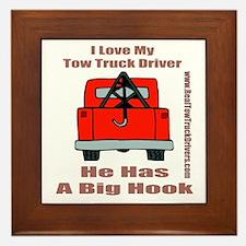 Tow Truck Driver Gift Framed Tile