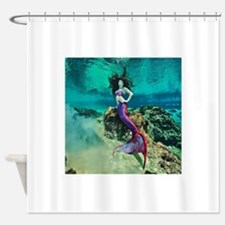 Wild Siren Mermaid Shower Curtain