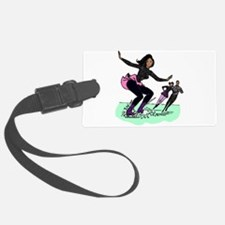 black ice skater Luggage Tag