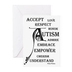 Autism love & Awareness Greeting Cards (Pk of 20)