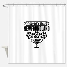 World's Best Newfoundland Mom Shower Curtain