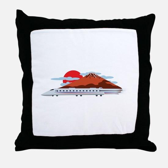 Bullett Train Throw Pillow