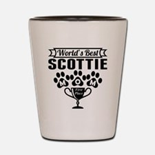 World's Best Scottie Mom Shot Glass