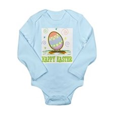 Funny Happy easter Long Sleeve Infant Bodysuit