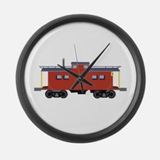 Caboose Large Wall Clock