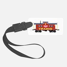 I Love Trains Luggage Tag