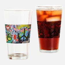 Unique Peace art Drinking Glass
