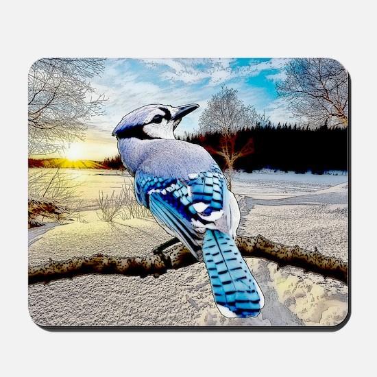 Blue Jay Sunrise Mousepad