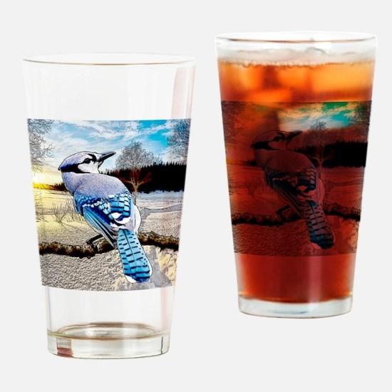 Blue Jay Sunrise Drinking Glass