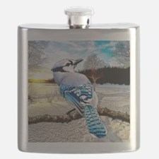 Blue Jay Sunrise Flask