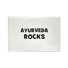 Ayurveda Rocks Rectangle Magnet