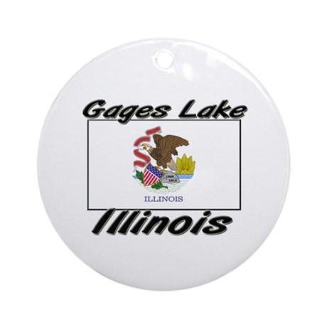 Gages Lake Illinois Ornament (Round)