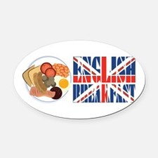English Breakfast Oval Car Magnet