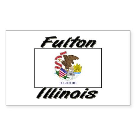 Fulton Illinois Rectangle Sticker