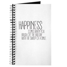 Happiness comes when you brush off the bad day Jou