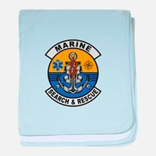 Marine Search and Rescue baby blanket