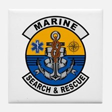 Marine Search and Rescue Tile Coaster