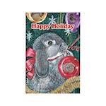 Rabbit Christmas Rectangle Magnet (10 pack)