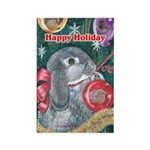 Rabbit Christmas Rectangle Magnet