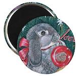 Rabbit Christmas Magnet
