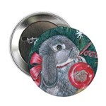 Rabbit Christmas Button