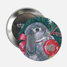 Rabbit Christmas Button