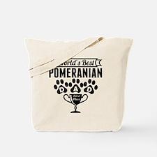 World's Best Pomeranian Dad Tote Bag