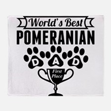 World's Best Pomeranian Dad Throw Blanket
