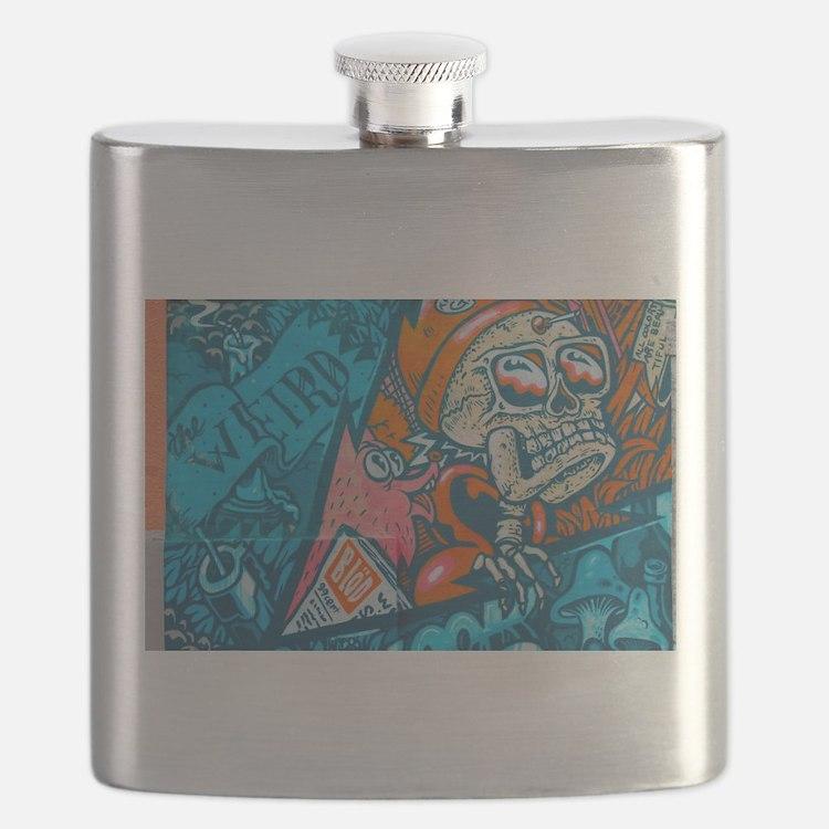 Cute Graffiti Flask