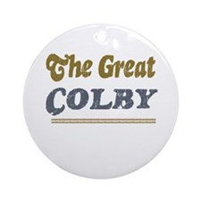 Colby Ornament (Round)