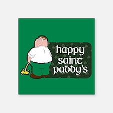"Family Guy Happy Paddy's Square Sticker 3"" x 3"""