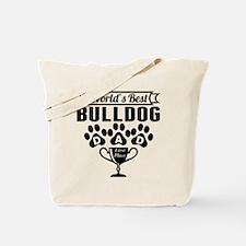 World's Best Bulldog Dad Tote Bag