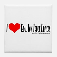 Tow Truck Driver Stickers Tile Coaster