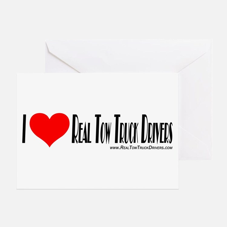 Tow Truck Driver Stickers Greeting Card