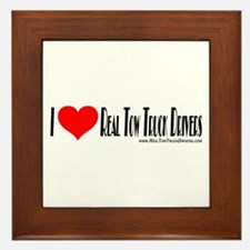 Tow Truck Driver Stickers Framed Tile