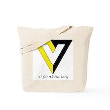 V for Voluntary Tote Bag