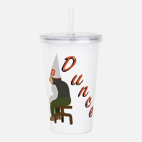 Dunce Acrylic Double-wall Tumbler