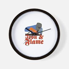 Iron & Flame Wall Clock