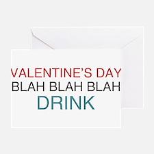 Valentine's Day Blah Blah Blah Drink Greeting Card